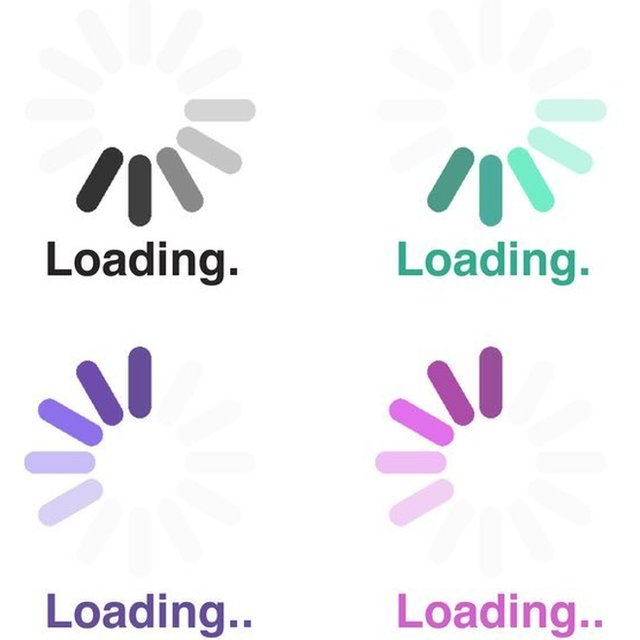 """Picture of """"loading wheels"""". Twitter and Reddit are to encourage users to participate in the FCC consultation by sharing gifs which mimic loading screens."""