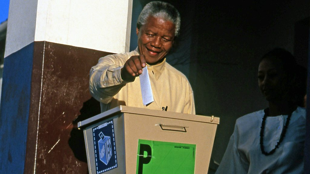 South Africa's first free elections after Apartheid