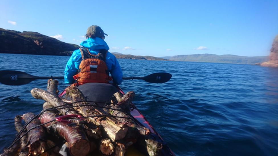 Canoeing at Rhos y Gwaliau