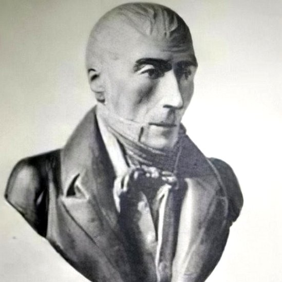 A 19th-Century bust of Pierre David