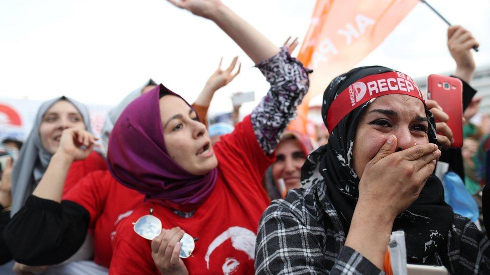 Erdoğan'ın <a href='/etiket/Kandil' target='_blank'>Kandil</a> operasyonunu duyurduğu Kocaeli mitinginden bir fotoğraf