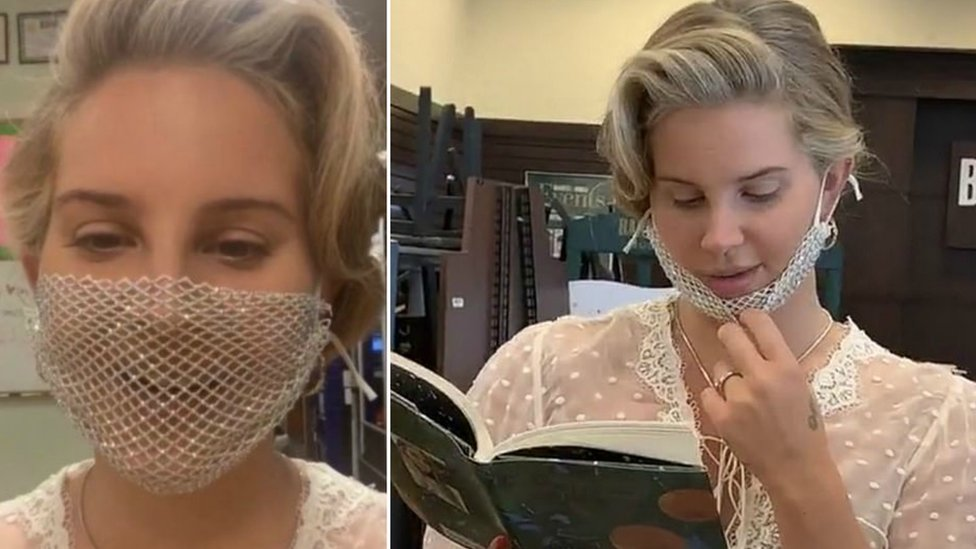 Lana Del Rey Criticised For Wearing Mesh Mask To Meet Fans Bbc News