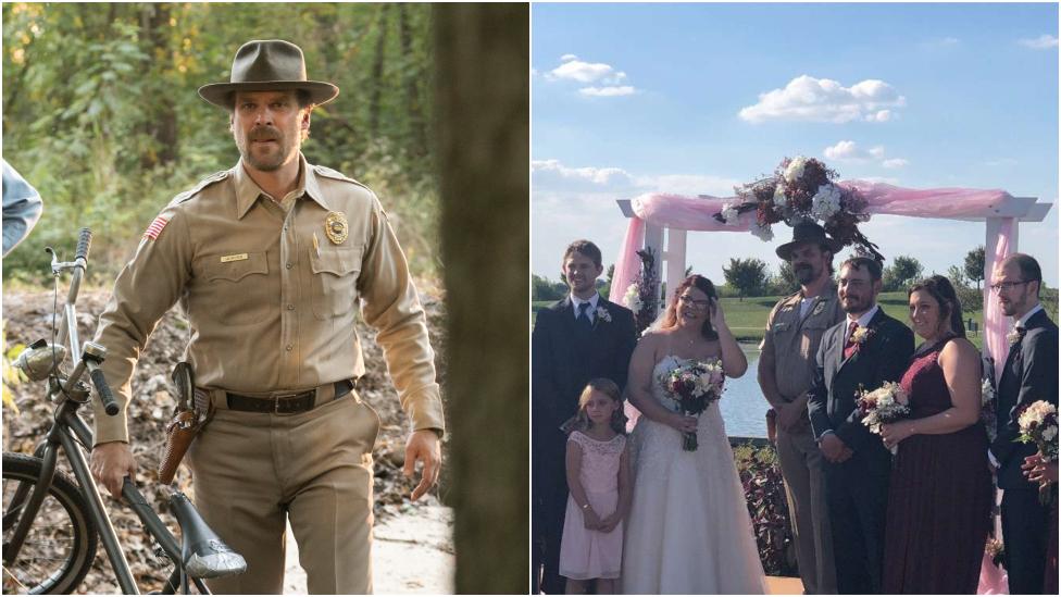 Stranger Things star officiates fan wedding in costume