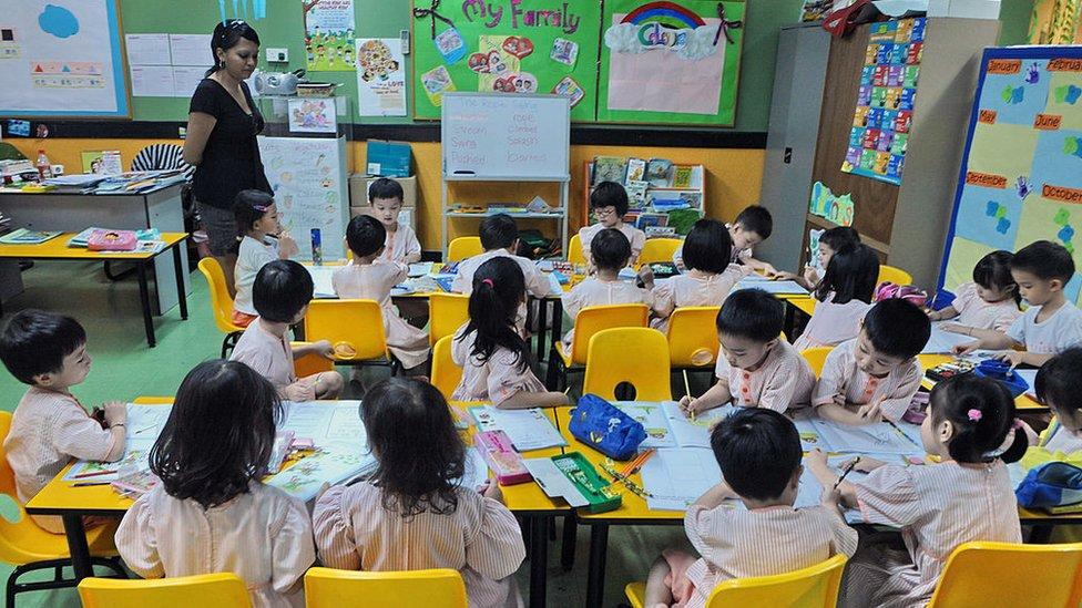 Murid pra-sekolah Singapura.