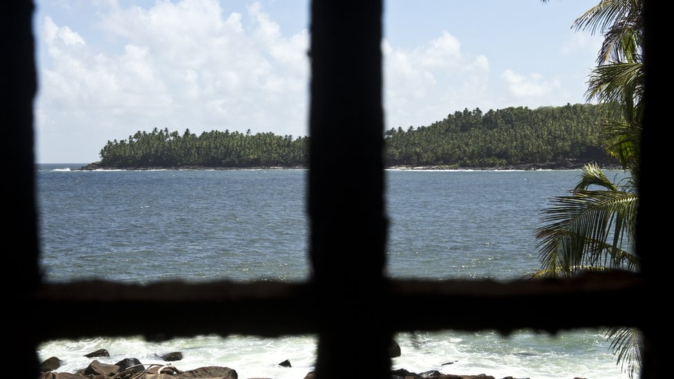 The view from the Devil's Island jail that made French Guiana famous in the 19th Century