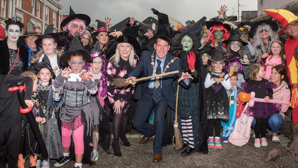 Witches launch Europe's biggest Halloween party