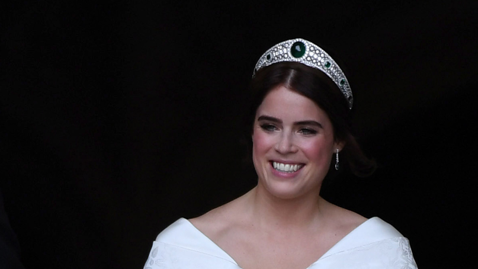 Princess Eugenie at St George's Chapel in Windsor Castle, Windsor, Britain,