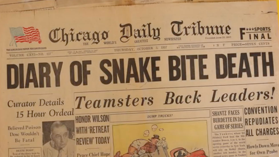 Halaman depan The Chicago Daily Tribune terbitan 3 October 1957