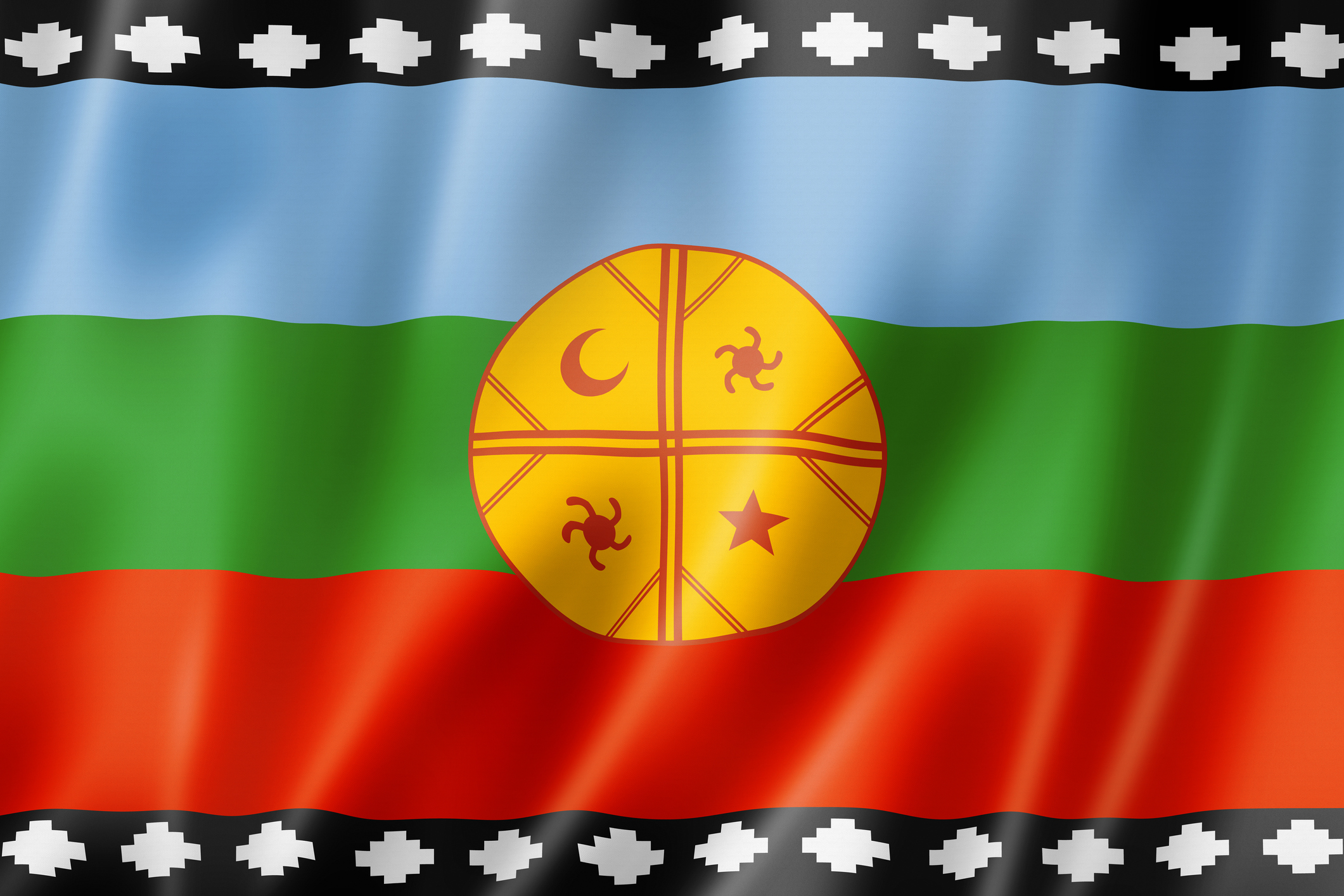La bandera mapuche.