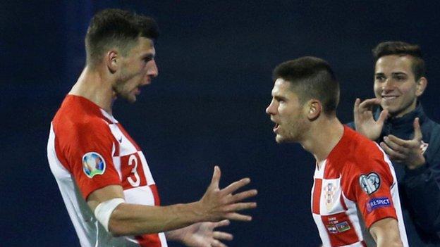 Croatia 2-1 Azerbaijan: Kramaric comes to home side's rescue with late winner