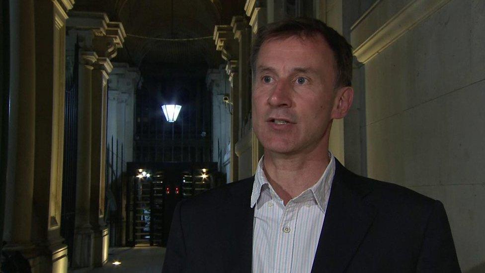 Jeremy Hunt, secretario de Relaciones Exteriores de Reino Unido