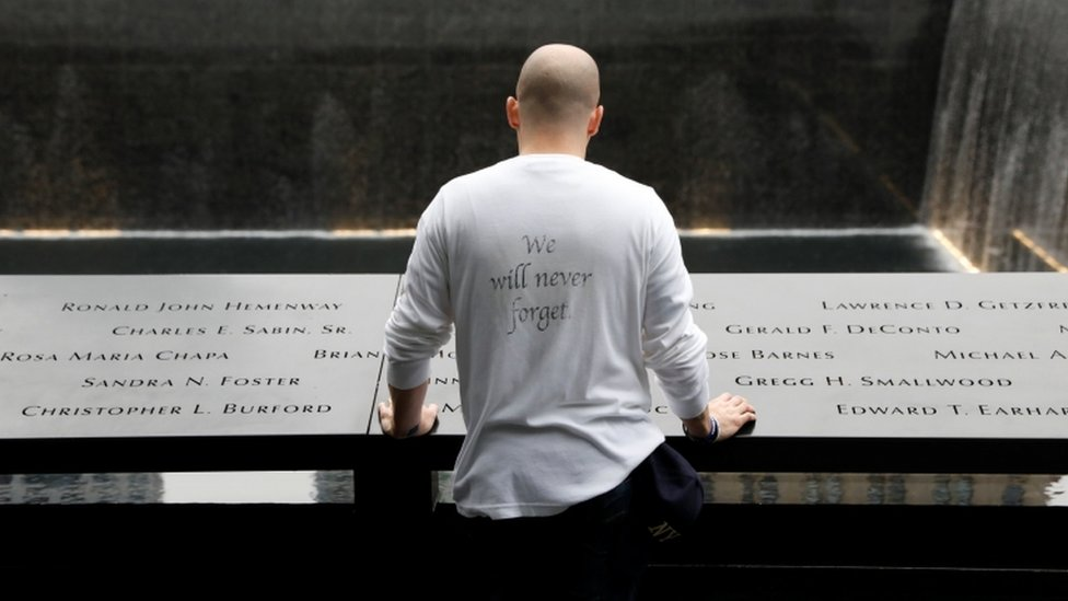 a guest at the New York memorial