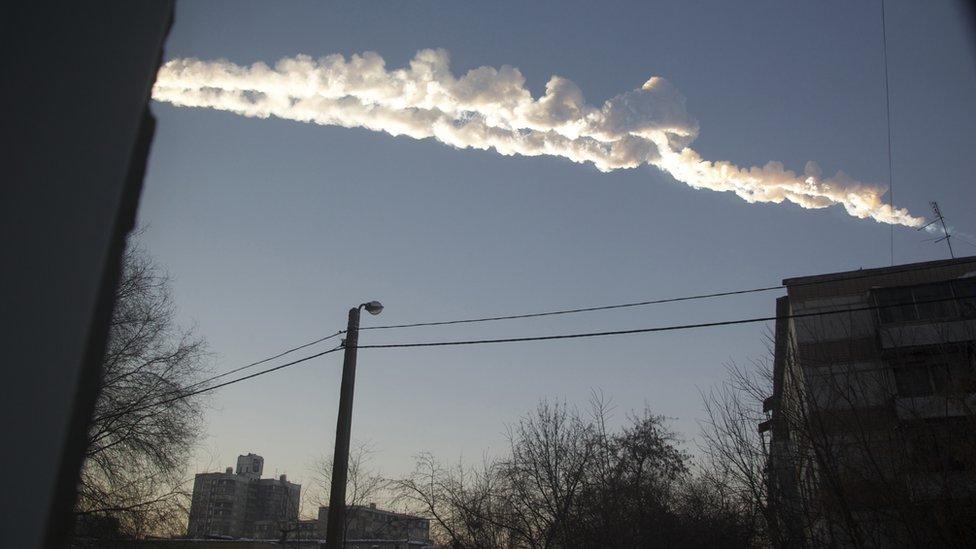 BBC / NO USAR  Lluvia de meteoritos en Chelyabinsk