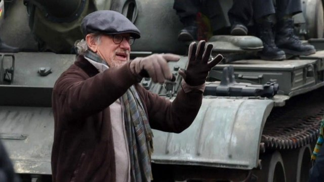 Steven Spielberg on the set of his new film