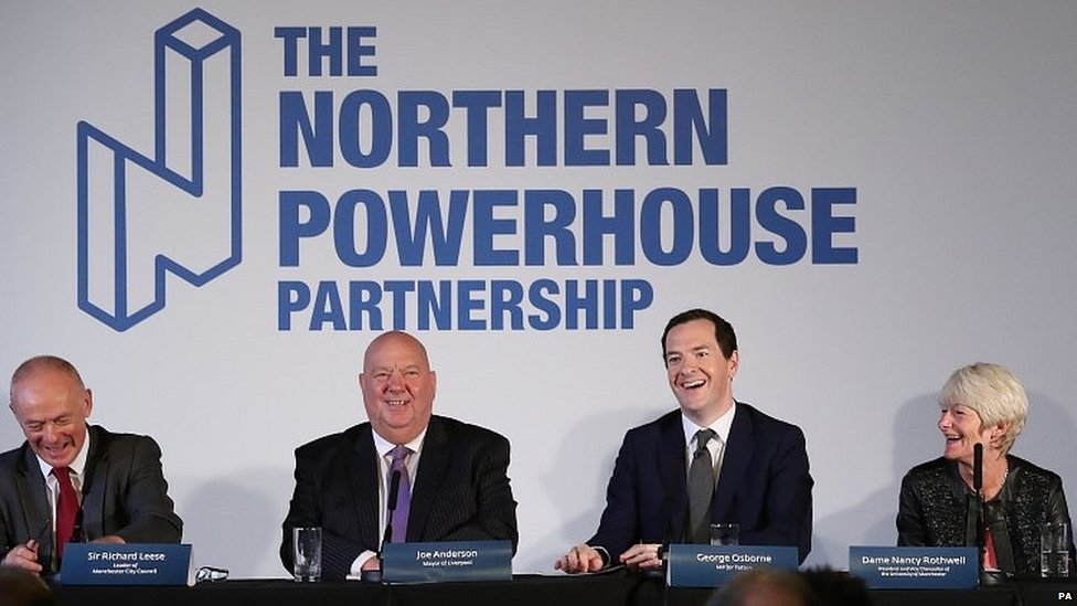George Osborne at the launch of the Northern Powerhouse Partnership