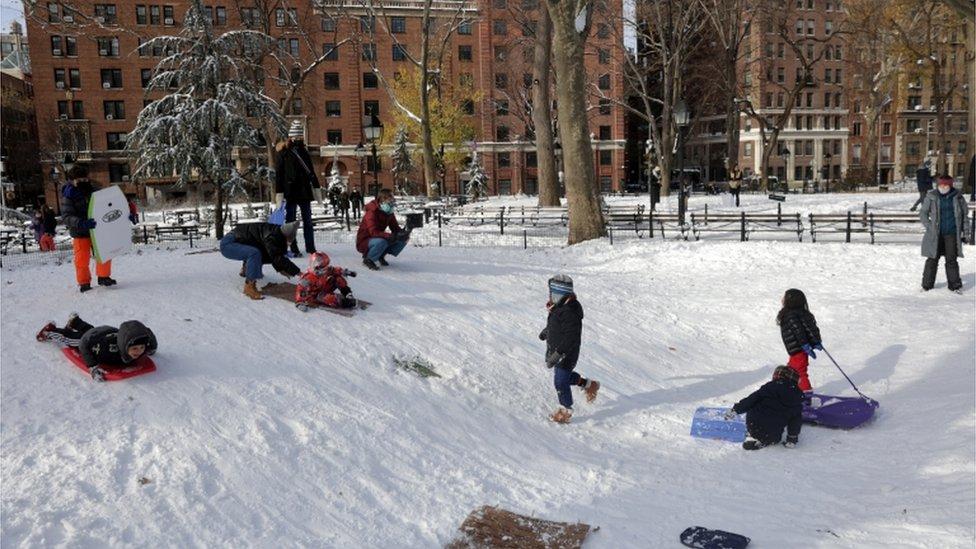 sledging in New York City