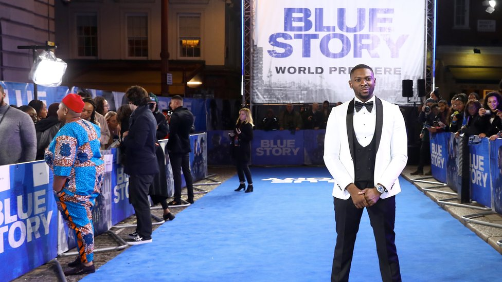 Rapman at the Blue Story premiere