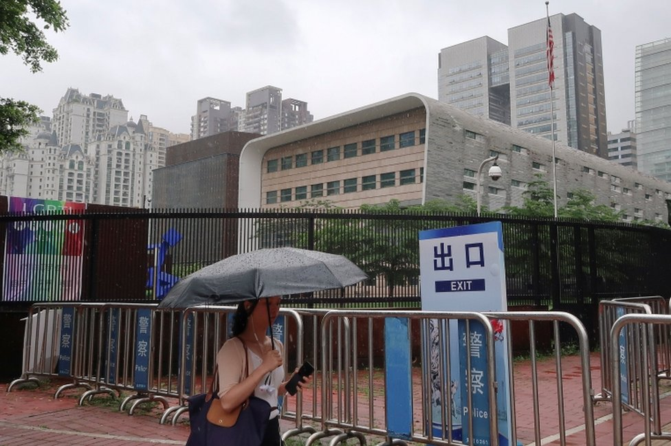 The US consulate, pictured on 7 June 2018