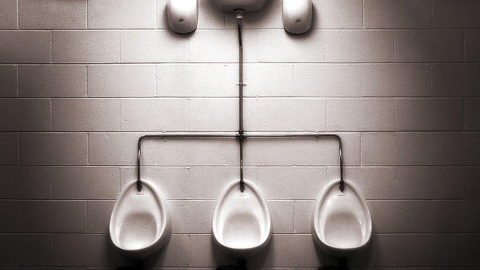 Urinales.