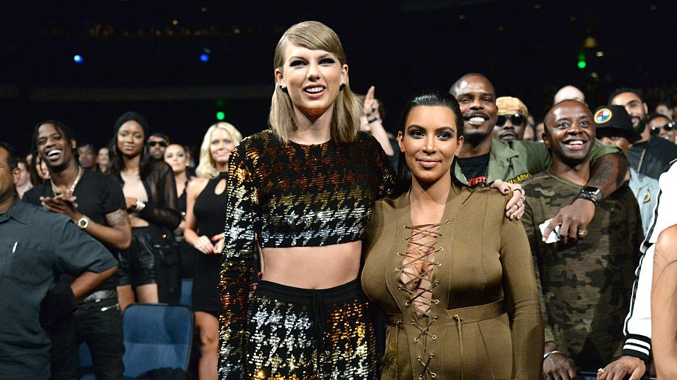 Taylor Swift And Kim Kardashian In War Of Words Over Leaked Call Bbc News