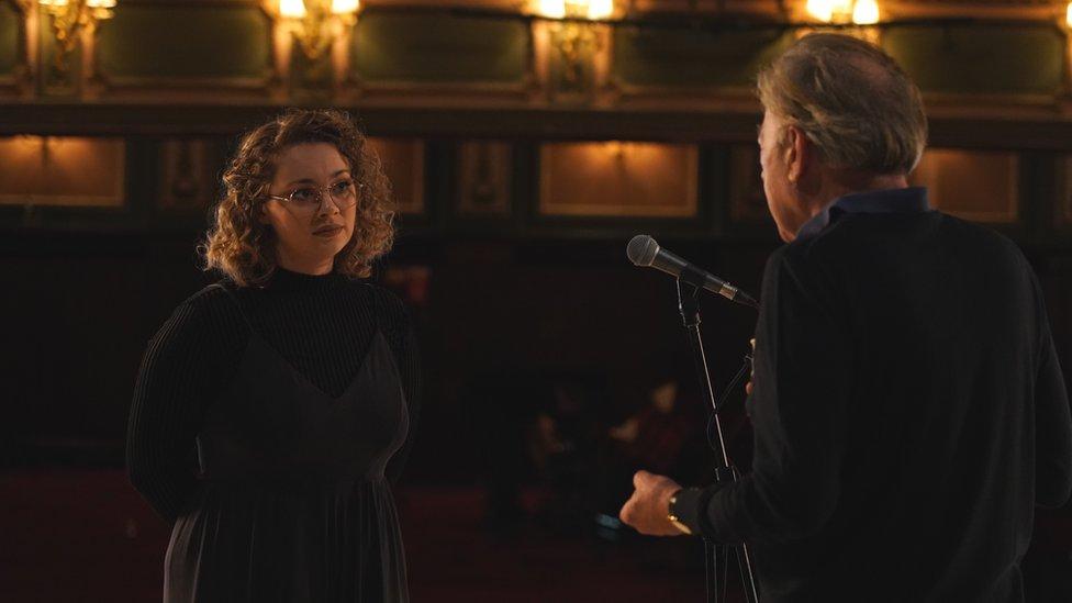 Carrie Hope Fletcher and Andrew Lloyd Webber