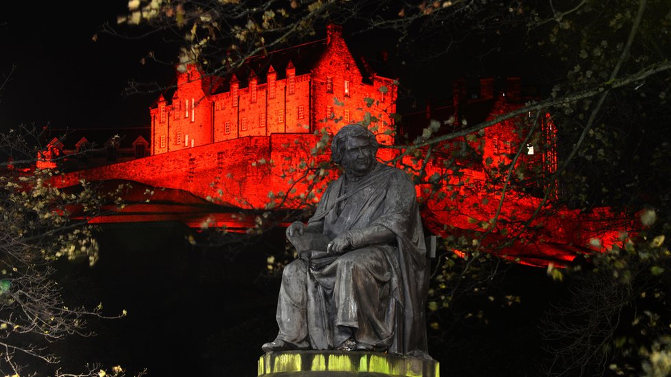 In Pictures: Scottish landmarks turn red for Armistice