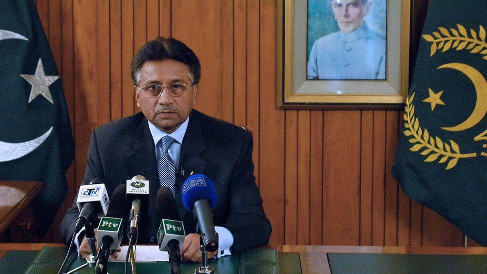Pervez Musharraf en agosto de 2008.