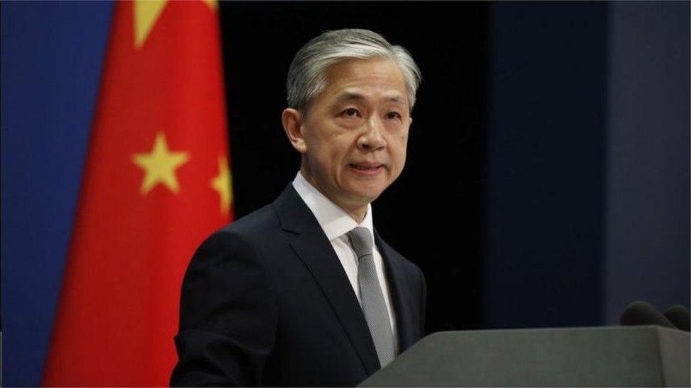 中國外交部例行記者會,發言人汪文斌
