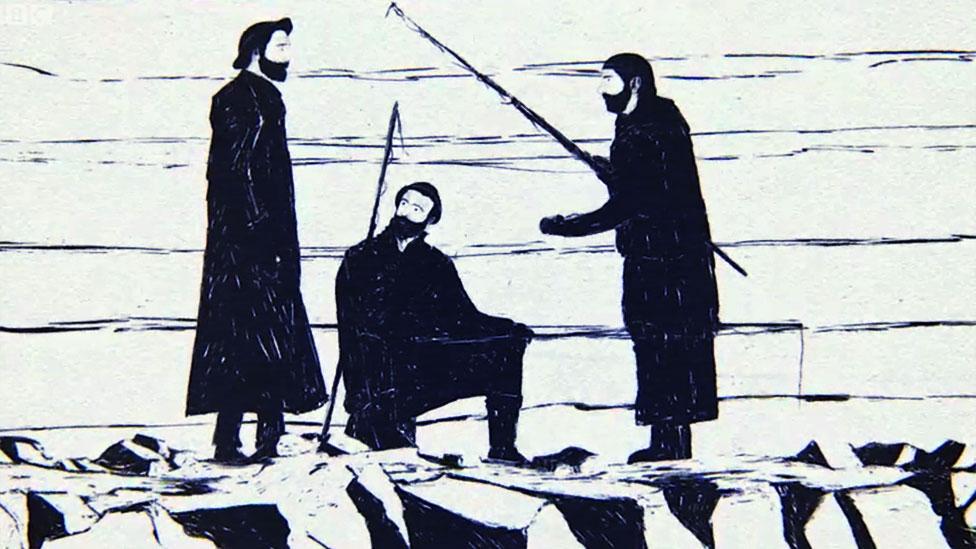Hombre se acerca a hablar con los pescadores
