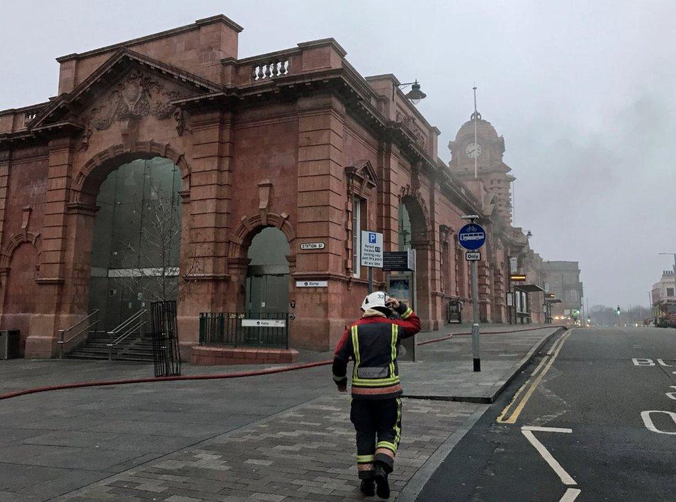 Nottingham station on 12 January