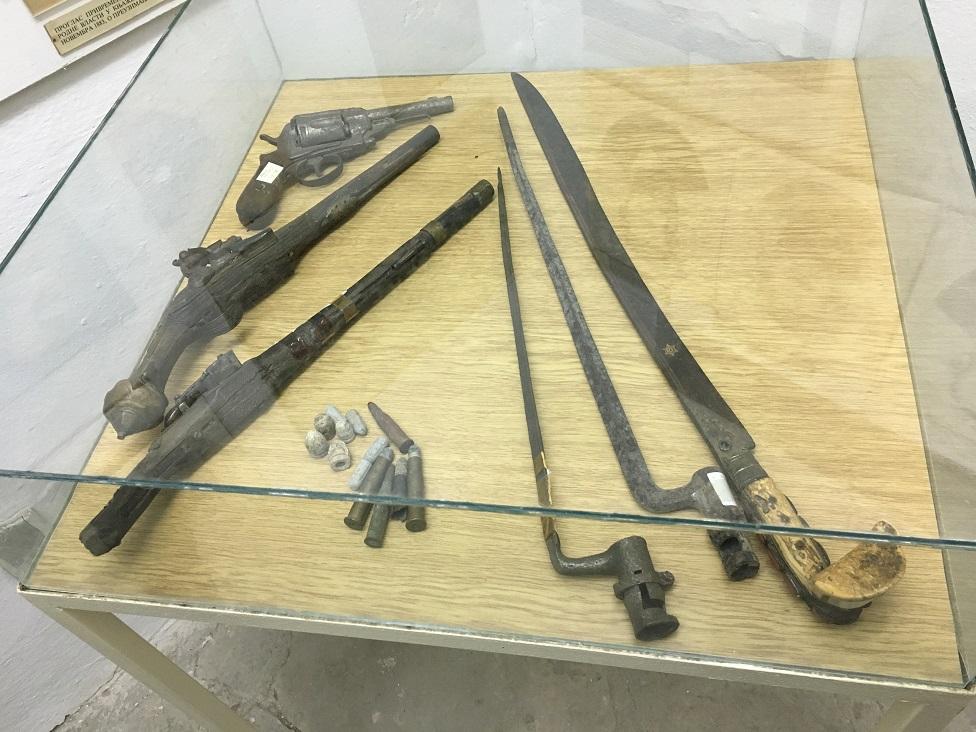 Postavka Muzeja Timočke bune - Slično oružje se koristilo u borbama