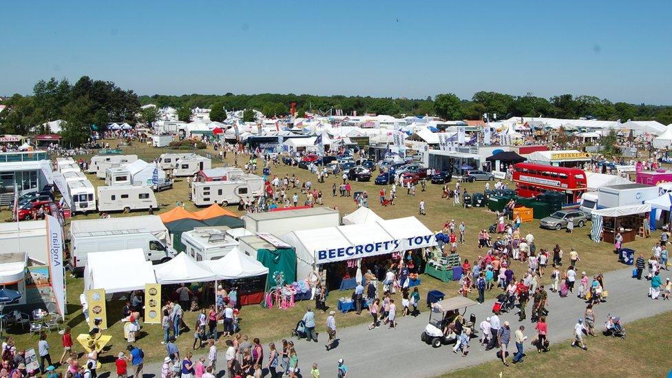 Suffolk Show trade stands
