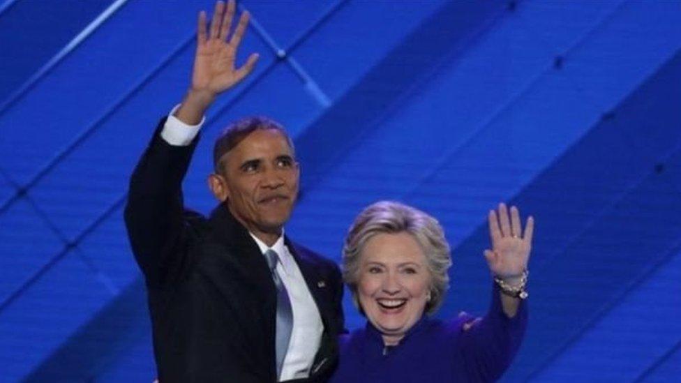 बराक ओबामा और हिलेरी क्लिंटन