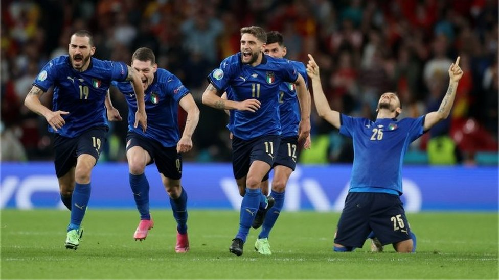 Los italianos festejan
