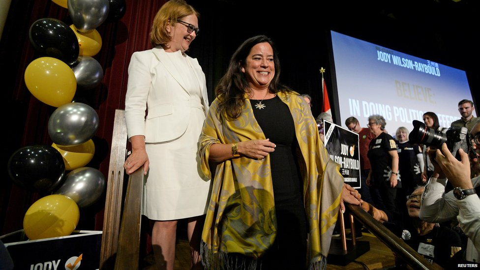 Jane Philpott (left) quit cabinet along with Ms Wilson Raybould (right)