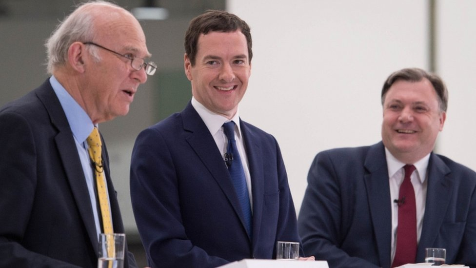 (L-R) Vince Cable, George Osborne and Ed Balls