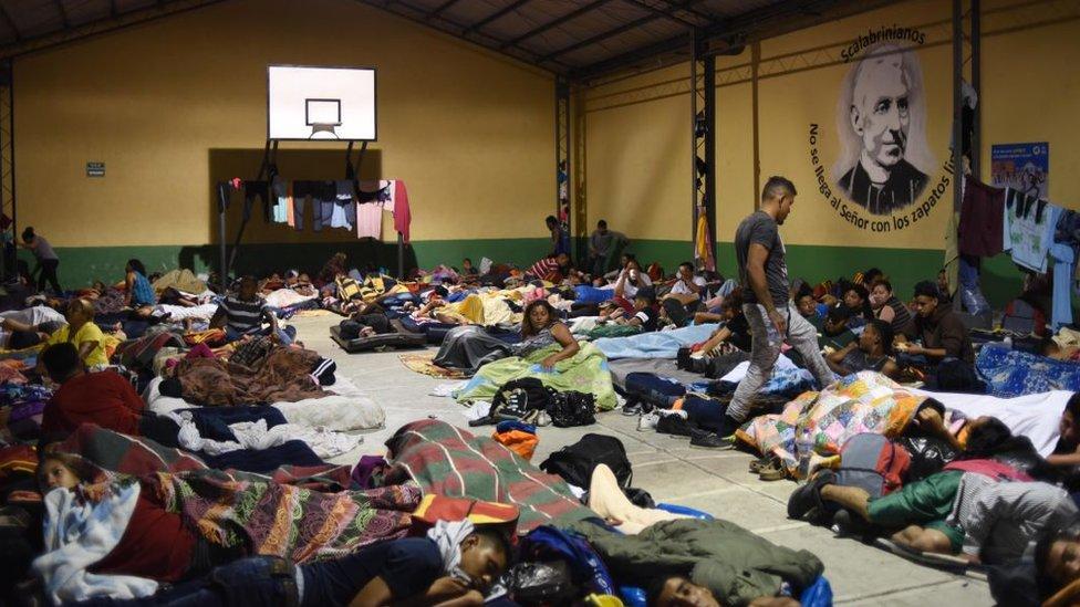 Caravana de migrantes hondureños ya se encuentra en Chiapas