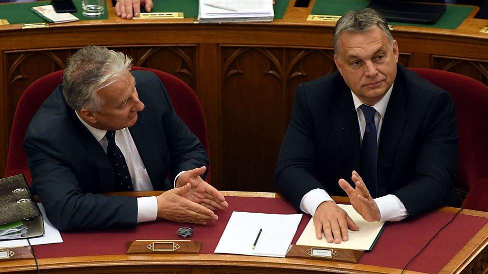 Zsolt Semjen y Viktor Orbán NO USAR / BBC