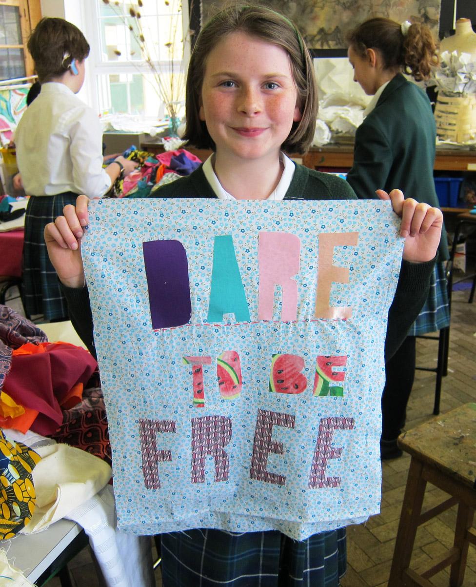 Jasmine aged 11 from Bruton School, Somerset