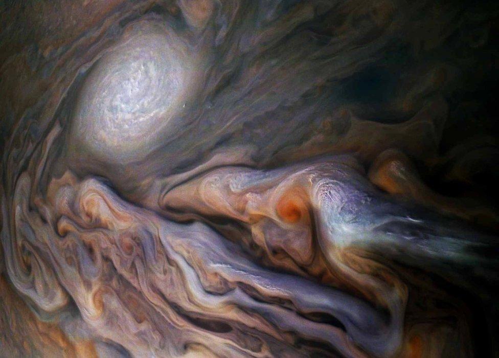 Jupiter detail (c) NASA / SwRI / MSSS / Gerald Eichstädt / Seán Doran