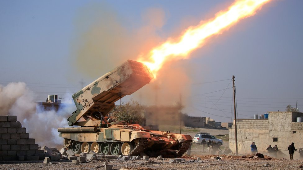 Iraqi army launches rocket
