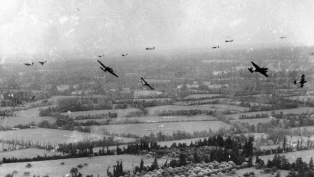 Planes over northern France, 6 June 1944