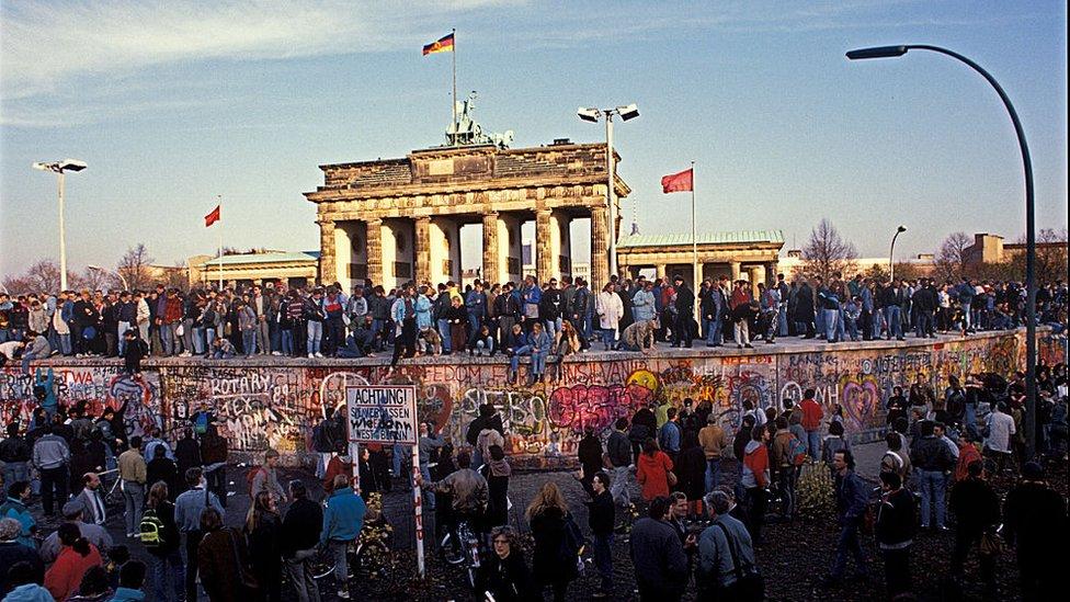 La caída del Muro de Berlín, en 1989