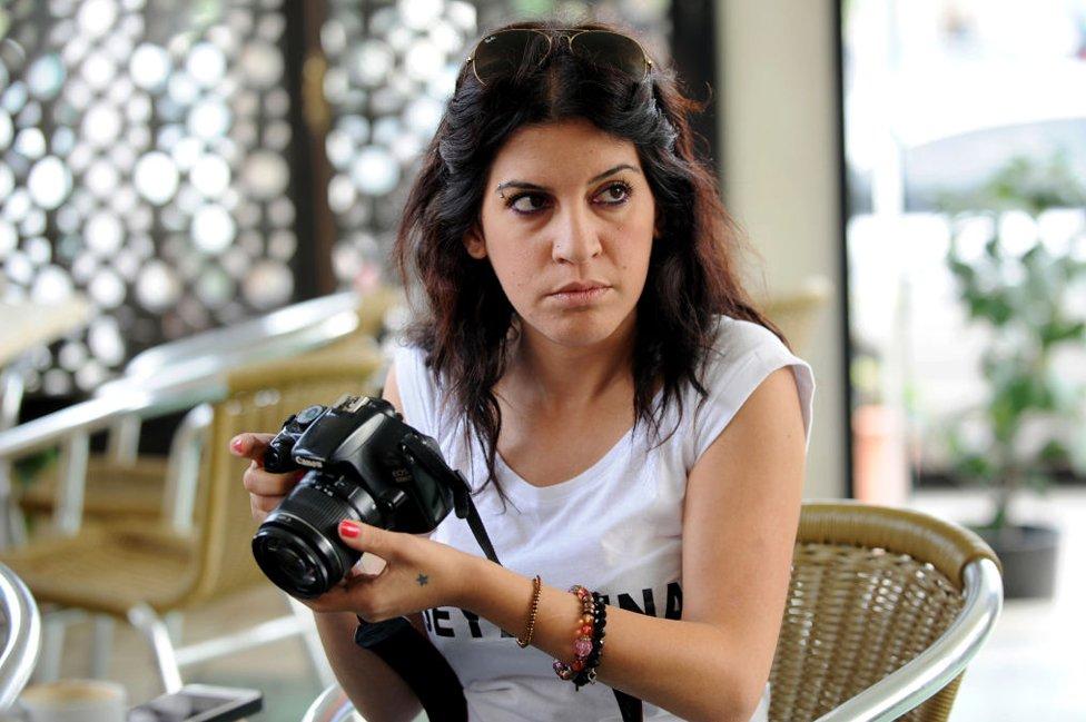 Human rights defender, internet-activist and blogger Lina Ben Mhenni
