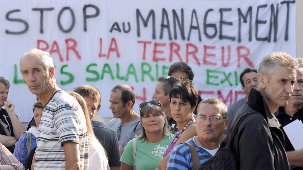 France Télécom workers protest, Marseille 2009