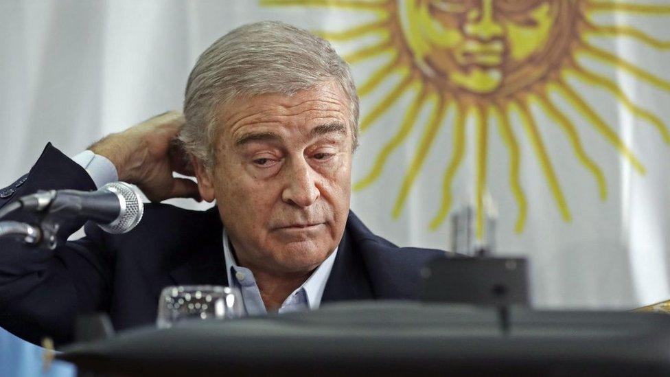 El ministro de Defensa argentino, Óscar Aguad.