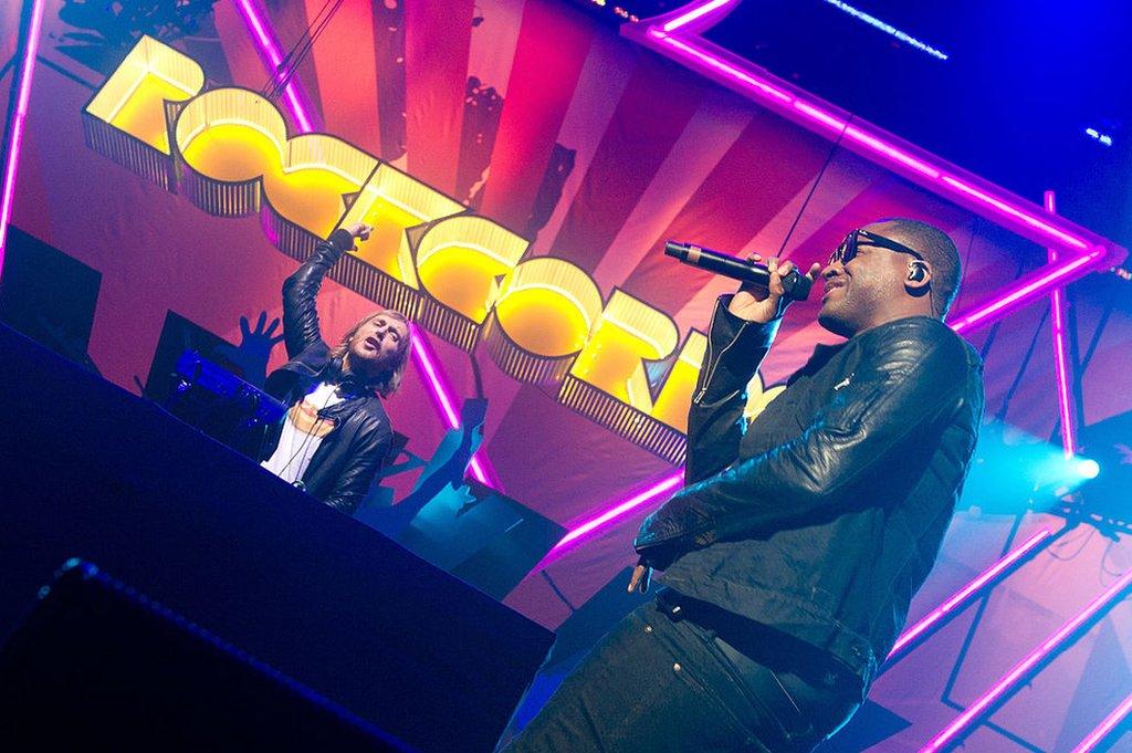 Taio Cruz and David Guetta