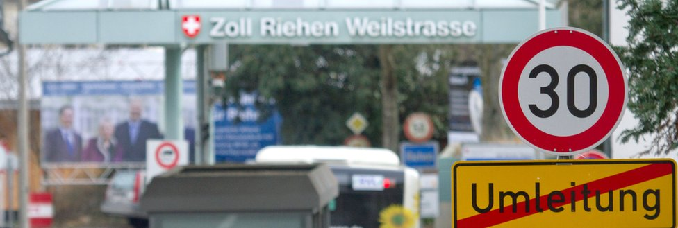 जर्मनी के साथ स्विस सीमा