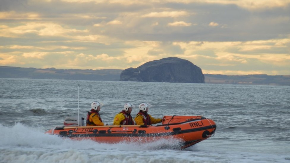 Injured kayaker rescued by lifeboat off Dunbar harbour