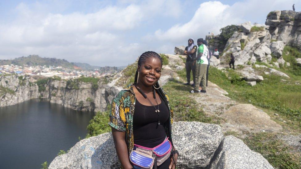 FAnn Chukwuka at Mpape Crushed Rock near Abuja, Nigeria